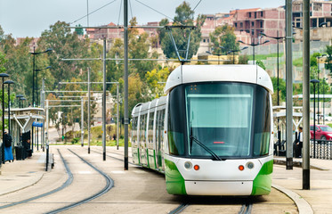 City tram in Constantine, Algeria
