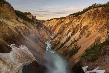 Deurstickers Canyon Grand Canyon of Yellowstone National Park, USA