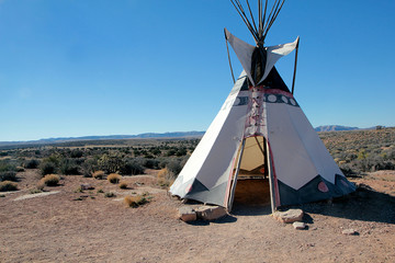 Tipi au Grand Canyon, Etats-unis