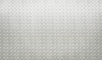 White silver industrial wall diamond steel pattern background
