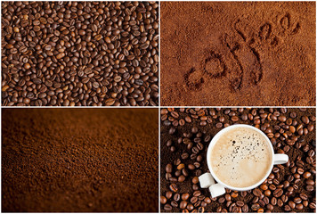Collection of coffee backgrounds
