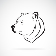 Vector of bear head design on white background., Wild Animals. Easy editable layered vector illustration.