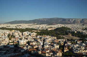Temple of Olympian Zeus seen from Acropolis, Athens, Greece