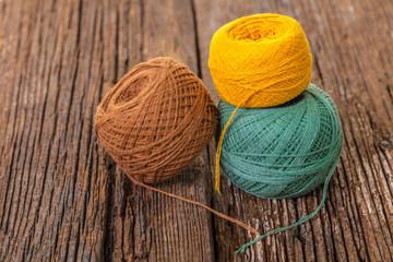 ball of thread for knitting