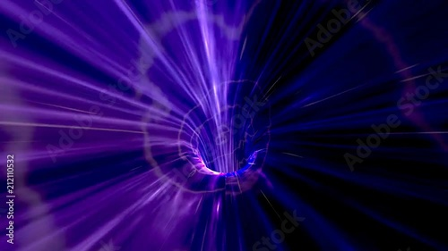"""High Speed Flight Through a Purple Wormhole in Outer Space - science fiction video"" Stock footage and royalty-free videos on Fotolia.com - Vid 212110532"