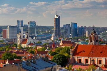Vilnius. Aerial view of the city.