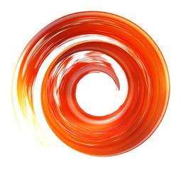 Photo sur Plexiglas Spirale spiral brush stroke