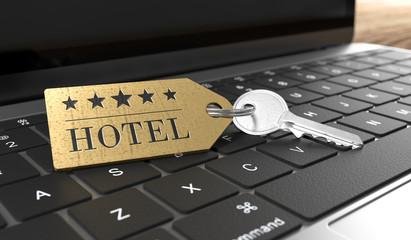 3D Hotelschlüssel Notebook