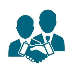 Handshake icon, Business Partners icon logo