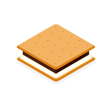 S'more with cracker chocolate and marshmallow