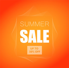 Summer Sale banner design for your business. Vector illustration