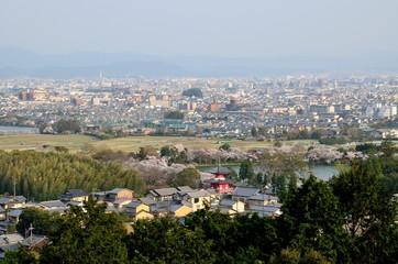 京都 嵯峨天皇陵からの眺め