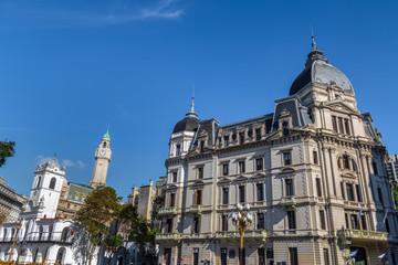 Buenos Aires City Hall - Palacio Municipal de la Ciudad de Buenos Aires and buildings in downtown - Buenos Aires, Argentina