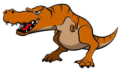 Tyrannosaurus Rex Roar Cartoon Vector