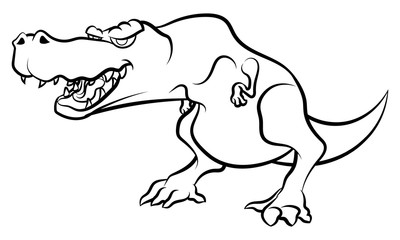 Roar Tyrannosaurus Coloring book cartoon vector
