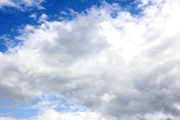Gray clouds in the blue sky
