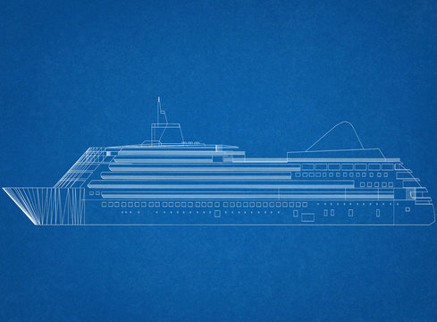 cruise ship Concept Architect Blueprint