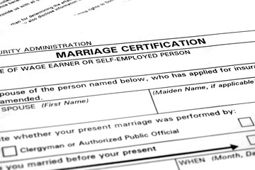 Marriage Certificate Certification Paperwork for Nuptials