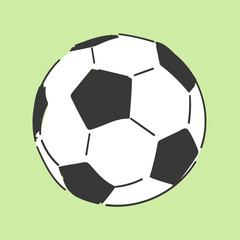 Football soccerball hand drawn style vector doodle design illustrations