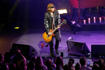 Johnny Depp performs with 'Hollywood Vampires' during the 52nd Montreux Jazz Festival in Montreux
