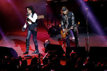 Alice Cooper and Johnny Depp perform together as 'Hollywood Vampires' during the 52nd Montreux Jazz Festival in Montreux