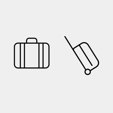 Valise vector, suitcase icon, modern line vector icon