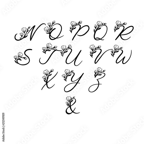 Vector Calligraphy Alphabet Exclusive Floral Letters Decorative