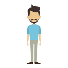 Asian Man cartoon isolated vector illustration graphic design