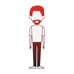 Man cartoon isolated vector illustration graphic design