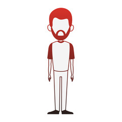 Man cartoon isolated vector illustration graphic design