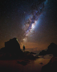 minimalist star gazing