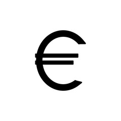 euro sign icon. Element of banking and finance icon for mobile concept and web apps. Glyph style euro sign icon can be used for web and mobile. Premium icon
