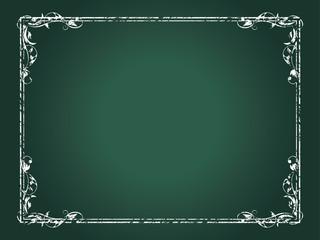 チョークタッチのバロック調フレーム|クラシカルオーナメント|飾り罫|Hand drawn ribbon Vector|BAROQUE Ornament