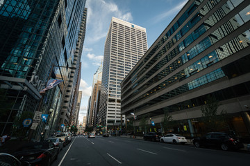Fotobehang Modern skyscrapers along Market Street, in Center City, Philadelphia, Pennsylvania.