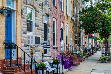 Wall Mural - Row houses in Locust Point, Baltimore, Maryland