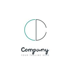 Initial Letter CC Circle Design Logo