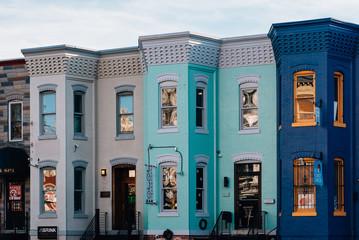 Wall Mural - Colorful buildings on U Street, in Washington, DC.