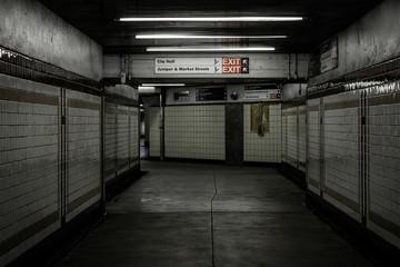 Concourse in Center City, Philadelphia, Pennsylvania.