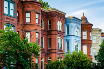 Wall Mural - Row houses at Seward Square, in Capitol Hill, Washington, DC.