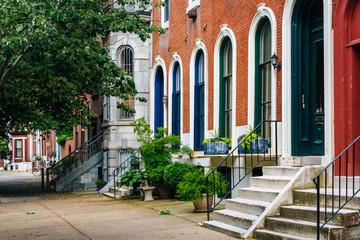 Wall Mural - Row houses in Spring Garden, Philadelphia, Pennsylvania