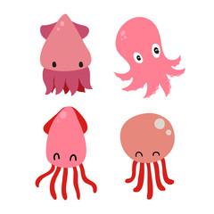 squid character vector design