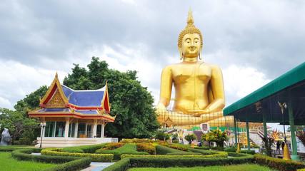 Heaven and Hell Statue at Wat Muang Temple, Ang Thong Province, thailand