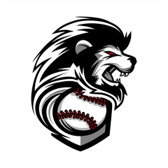 Lion Baseball Team Logo