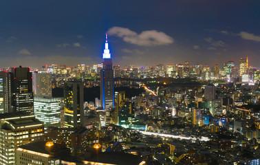 東京夜景・新宿から望む東京タワー方面