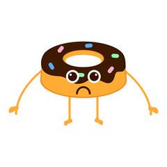 Isolated sad donut emote