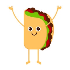 Isolated happy taco emote