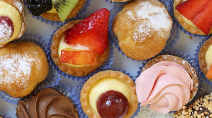 very colorful pastries on a table