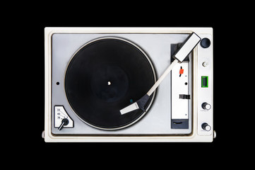 The old Soviet vinyl player