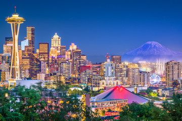 Wall Mural - Seattle, Washington, USA Skyline