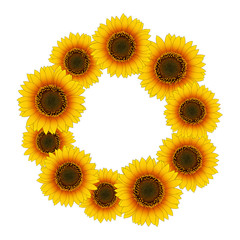 Orange Yellow Sunflower Wreath